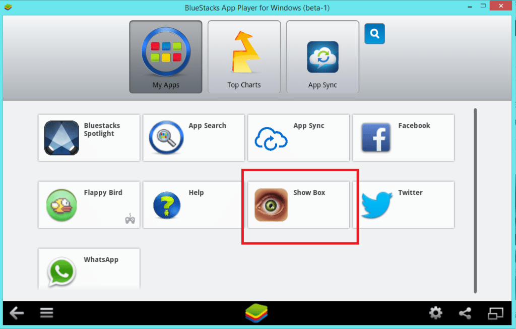 Bluestacks-Showbox-open