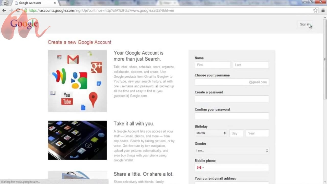 How+To+create+or+Sign+an+New+Gmail+Account